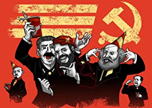 """Communist Party"" Funny Pun Famous Communist Leaders Partying - Rectangle Refrigerator Magnet"