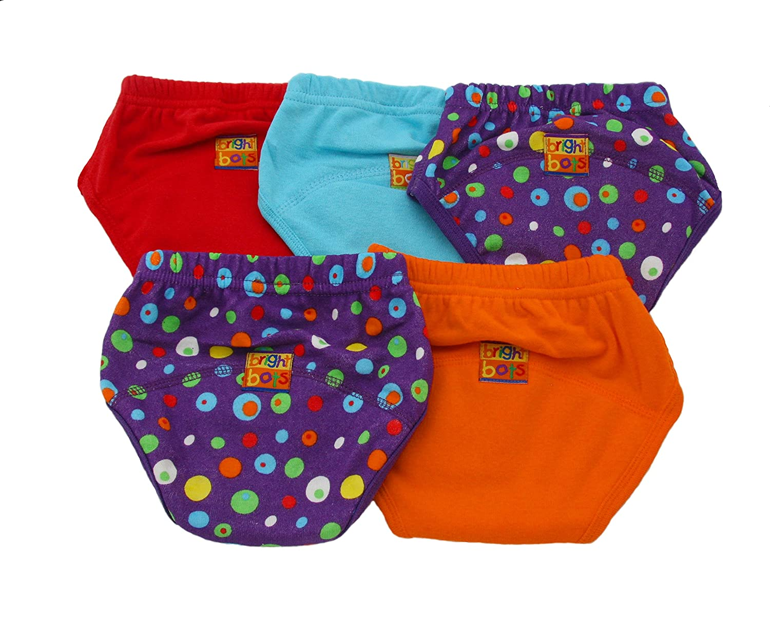 EXLarge Approx 30-36m Bright Bots Unisex Washable Potty Training Pants with PUL Lining 5pk