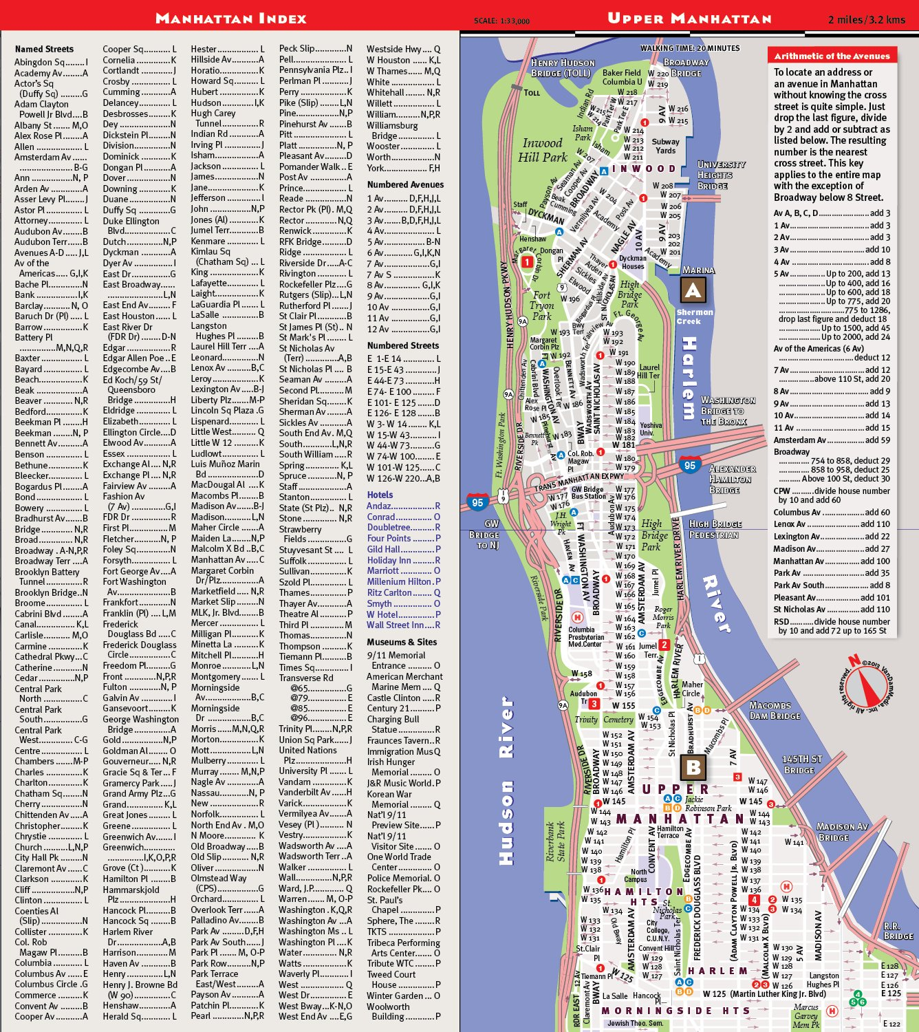 Detailed Map Of New York City.Streetsmart Nyc Map By Vandam Laminated City Street Map Of