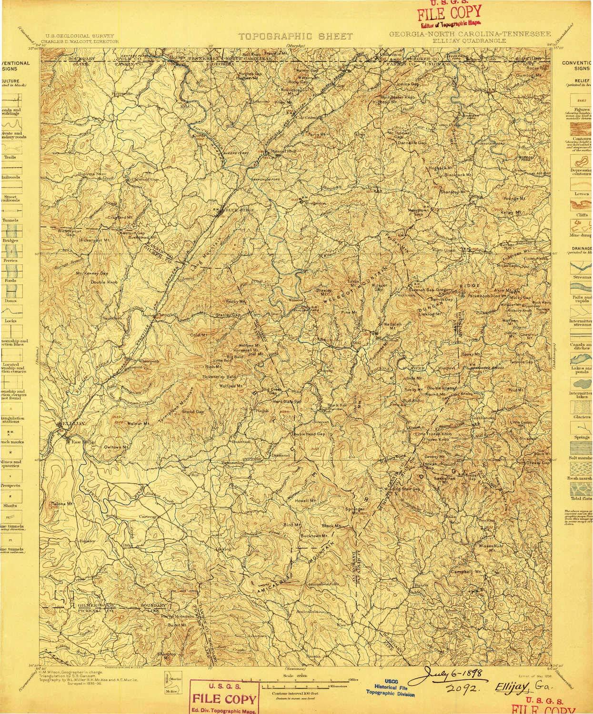 Map Of Georgia Ellijay.Amazon Com Yellowmaps Ellijay Ga Topo Map 1 125000 Scale 30 X 30