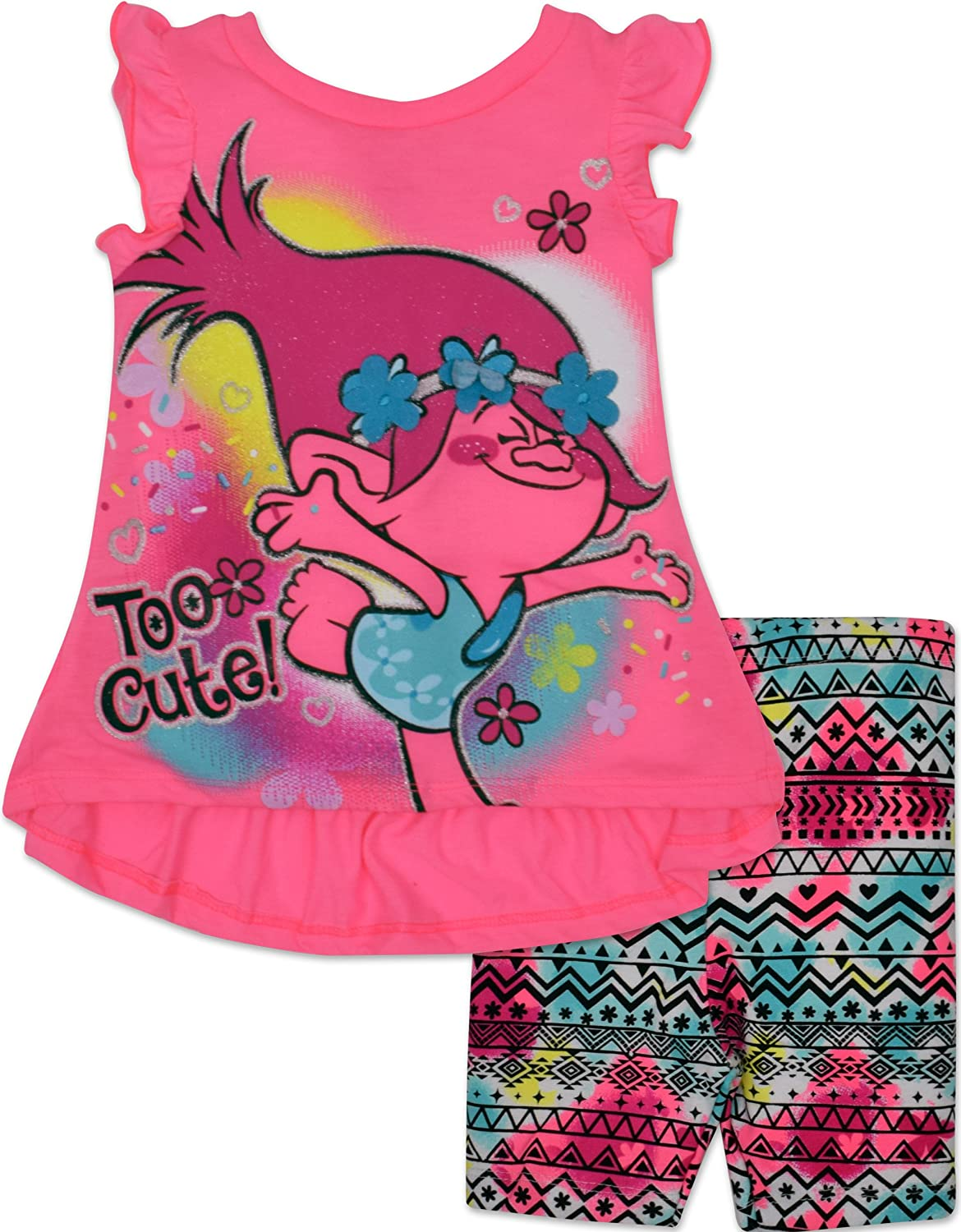Trolls Toddler Girls Tunic and Shorts Set Pink 77E1205TR