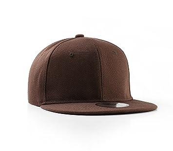 Underground Kulture Plain Flat Peak Snapback Baseball Cap Brown ... 0c0514928ef1