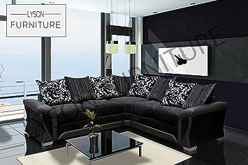 Lyson Furniture Shannon Ecksofa Für Wohnzimmer Schwarzgrau