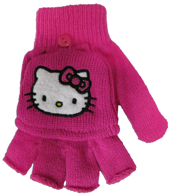 106ab1015 Sanrio Hello Kitty Girls Pink Glove Set [4012] - cineric.com