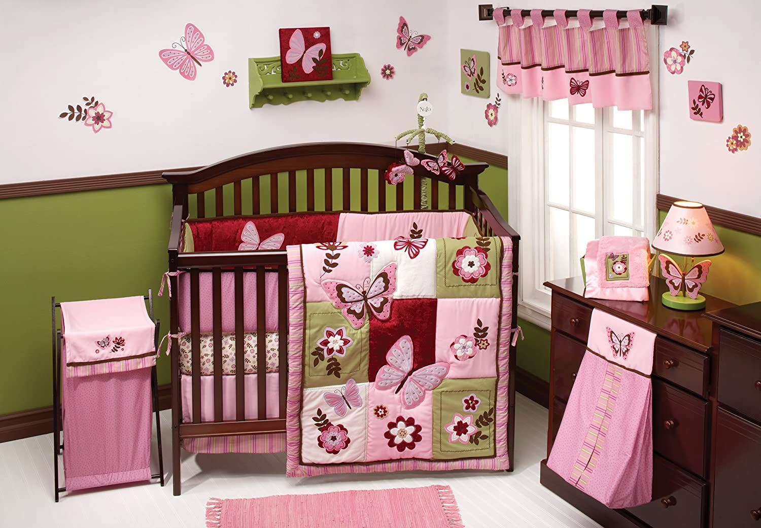 Design Baby Bed Set amazon com nojo emily 8 piece bedding set crib sets baby