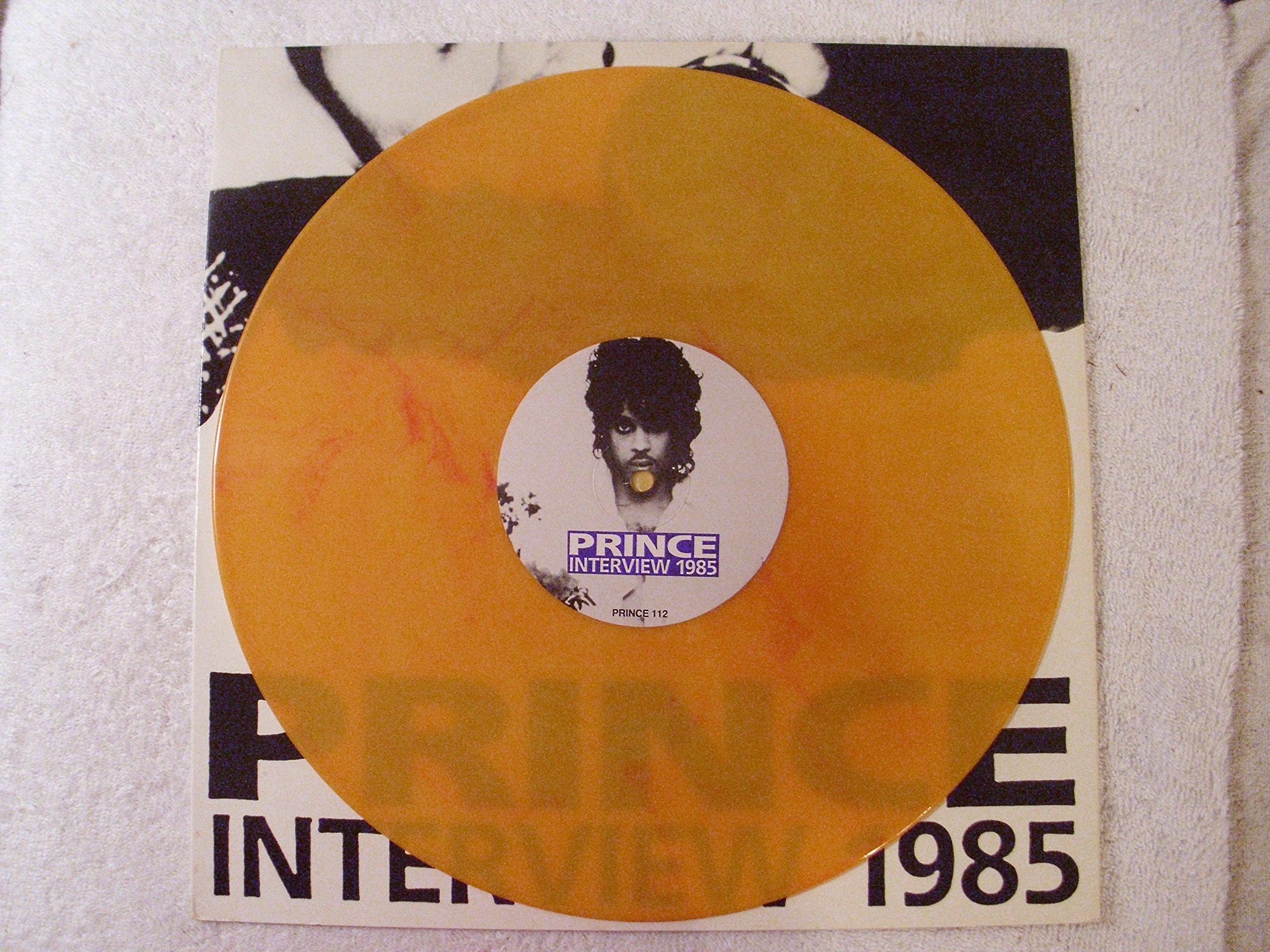 Prince Interview 1985 YELLOW Vinyl UK Import LP