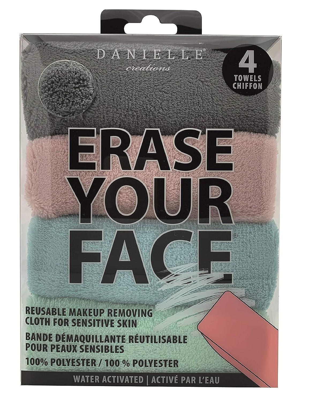 Erase Your Face - Reusable Makeup Removing Cloths ~ Facial Care Set (4 Pk Cloths)