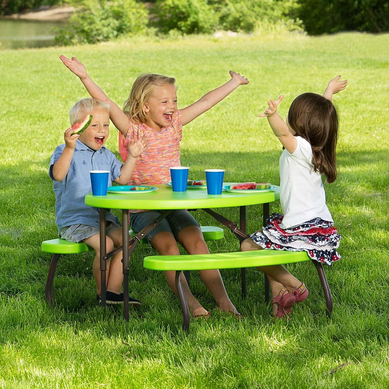 Amazon Lifetime Children s Oval Picnic Table Lime