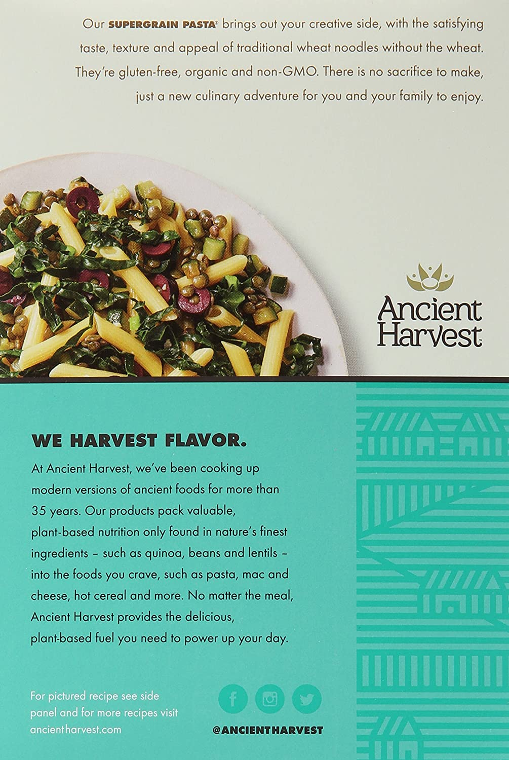 Ancient Harvest Gluten Free Pasta, Penne, 8 Ounce: Amazon: Grocery &  Gourmet Food
