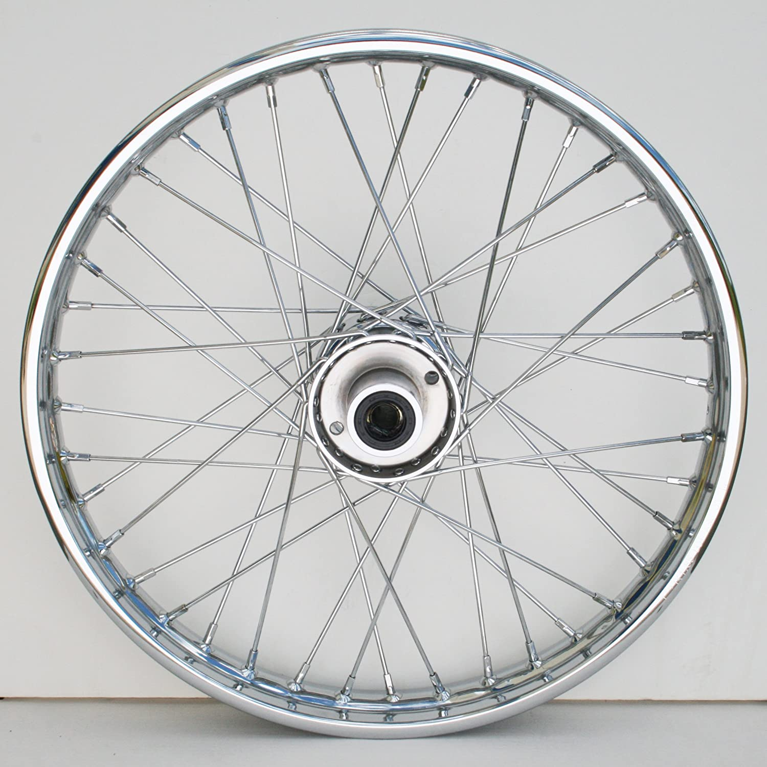 36-370 Ultima Complete Chrome 40 Spoke Front Wheel 19 x 2.50 2000 /& Later Models Single or Dual Disc
