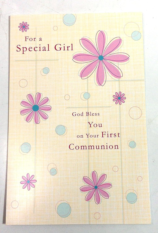 Amazon.com: Tarjetas de Comunión para niña (para una chica ...