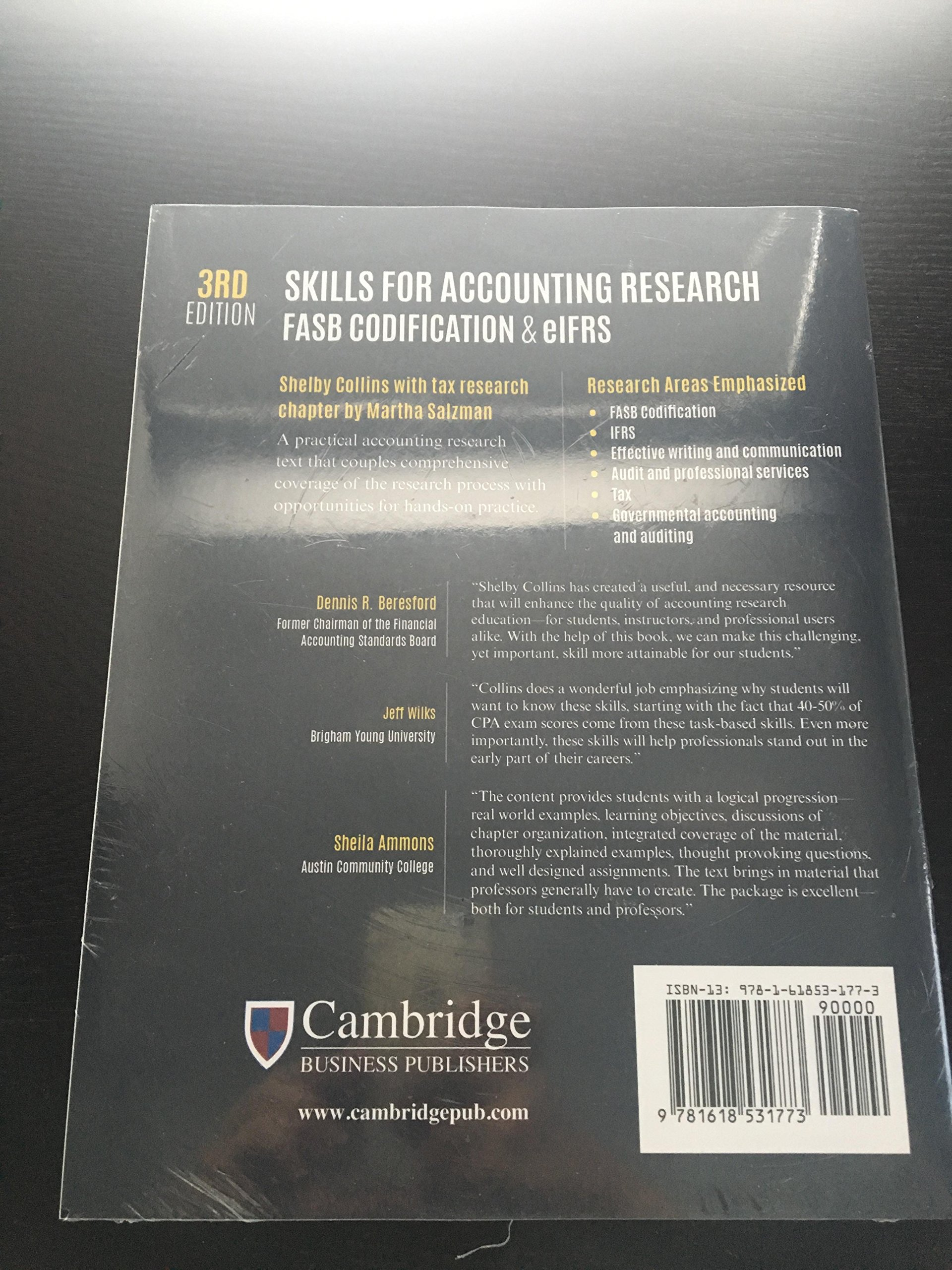 Skills faccountingauditing research shelby collins 9781618531773 skills faccountingauditing research shelby collins 9781618531773 amazon books fandeluxe Images