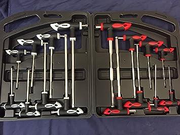 16pc Juego mango T Torx & hex extremo esférico juego de llaves allen TRX Estrella Tx destornillador NUEVO