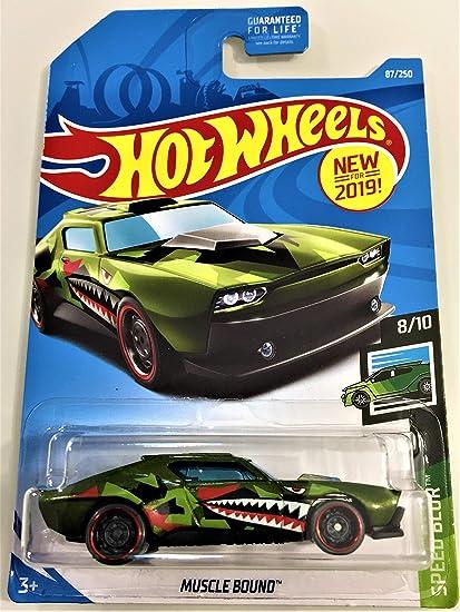 Speed Blur Diecast  Diecast Car 2019 Hot Wheels Muscle Bound #87//250 Green