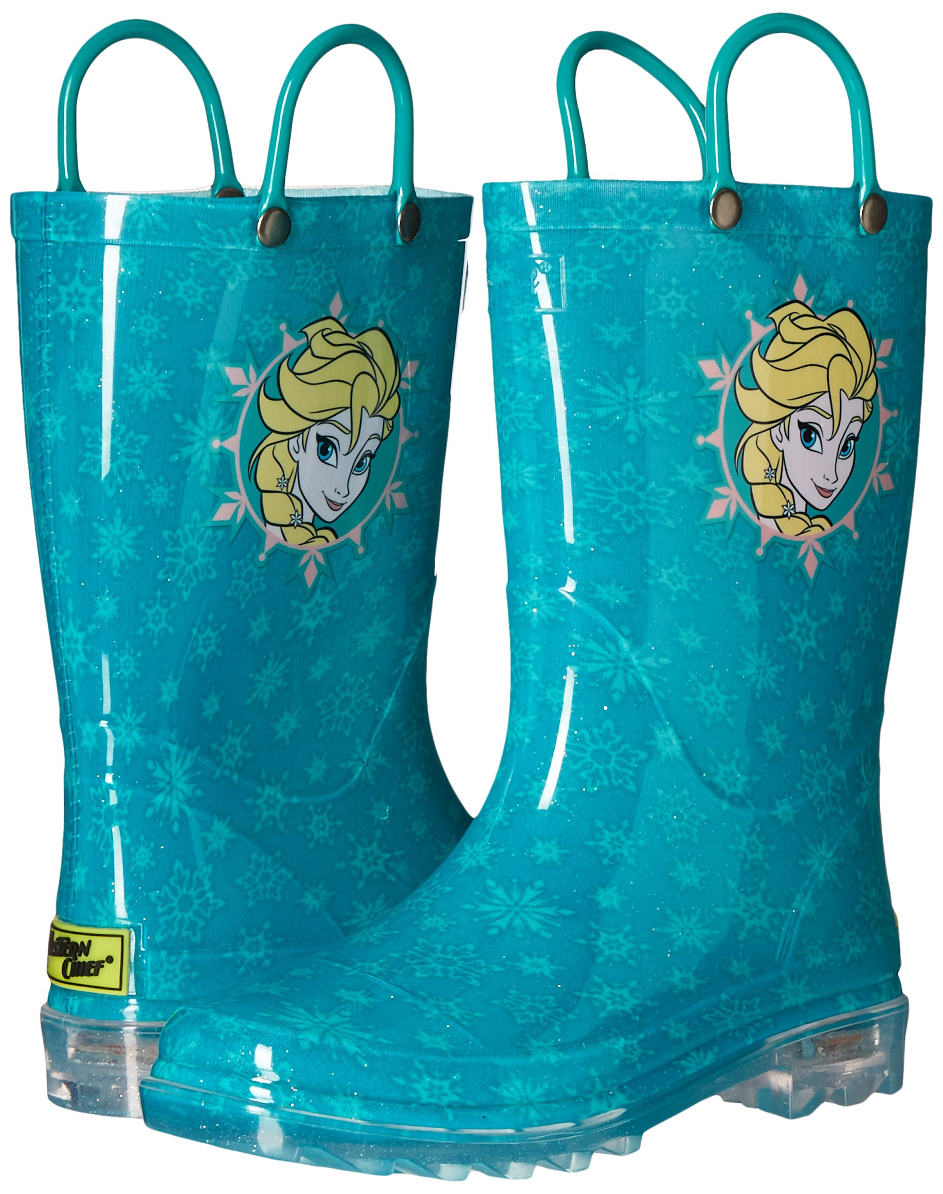 Western Chief Kids Girls' Waterproof Rain Boots That Light up with Each Step, Frozen Elsa and and, 13 M US Little Kid by Western Chief (Image #6)