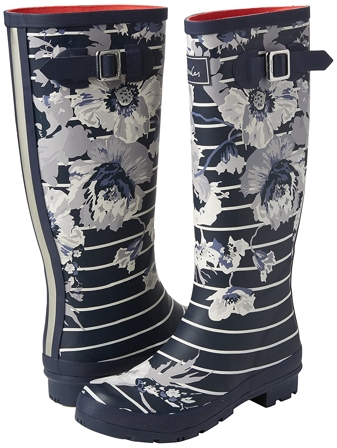 Joules Women's Welly Print Rain Boot B072J36H6D 9 B(M) US|French Navy Posy Stripe