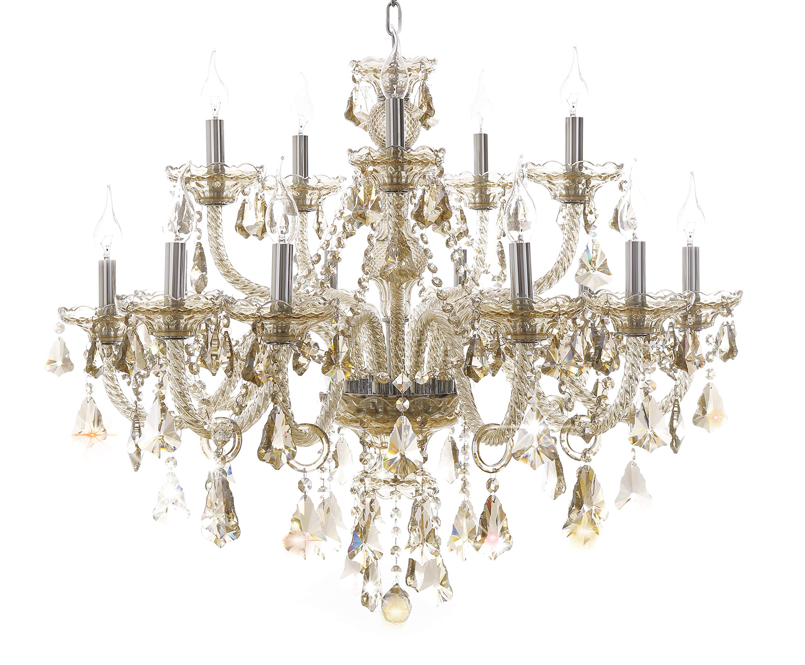 Generic Island Lights Crystals Chandelier 15 Lights Ceiling Fixtures Color Cognac by Unknown (Image #1)