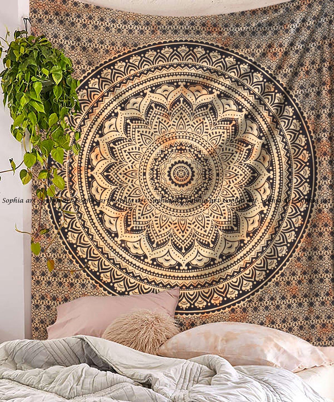 Indische Mandala Wandbehang Mandala Elefant Bett Überwurf Boho Abdeckung