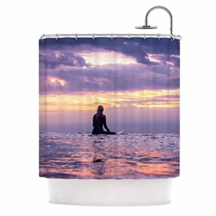 69 x 70 Shower Curtain Kess InHouse Colin Pierce Soul Search Purple Orange Photography