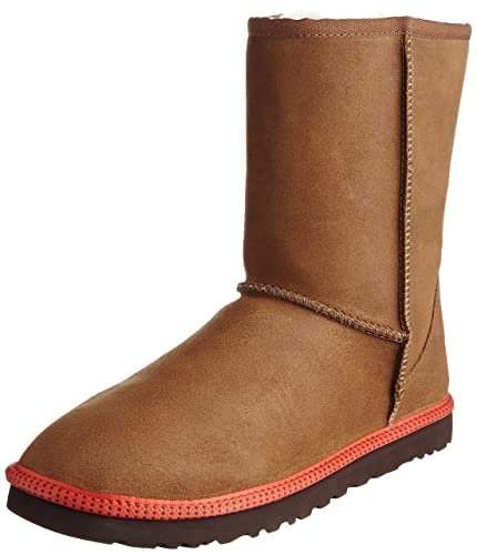 UGG Men's Classic Short Leather Chestnut Leather/Sheepskin Boot 18 D -  Medium