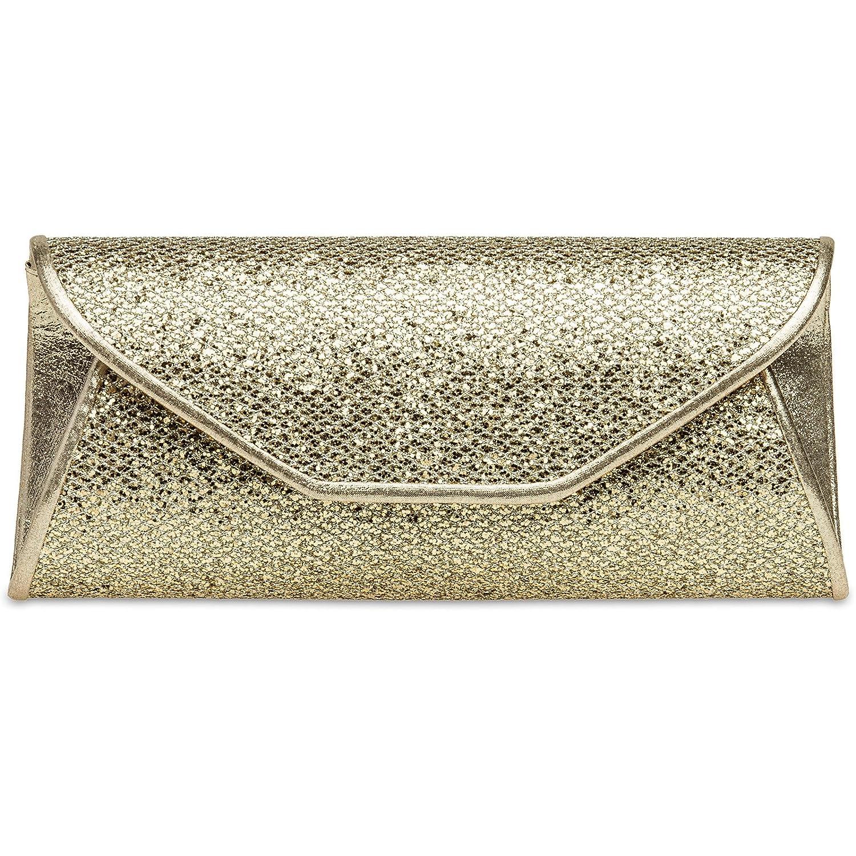 CASPAR TA347 Damen elegante Glitzer Clutch Tasche/Abendtasche 4251085283611