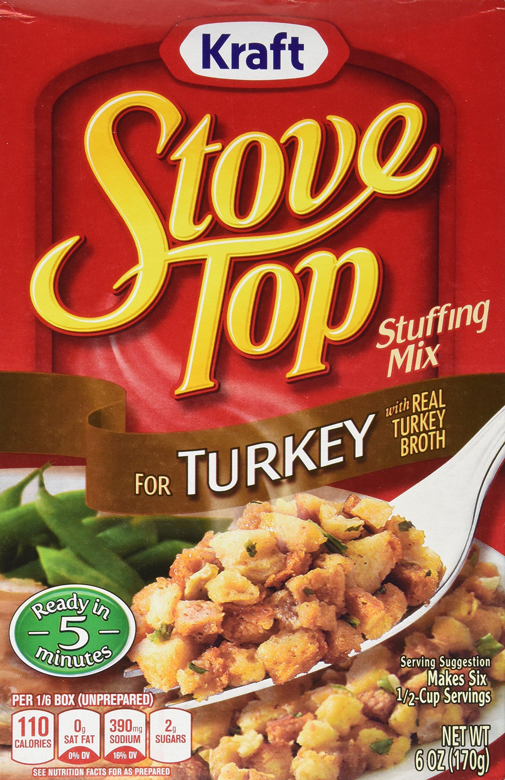Kraft Stove Top Turkey Stuffing Mix (Pack of 3) 6 oz Boxes