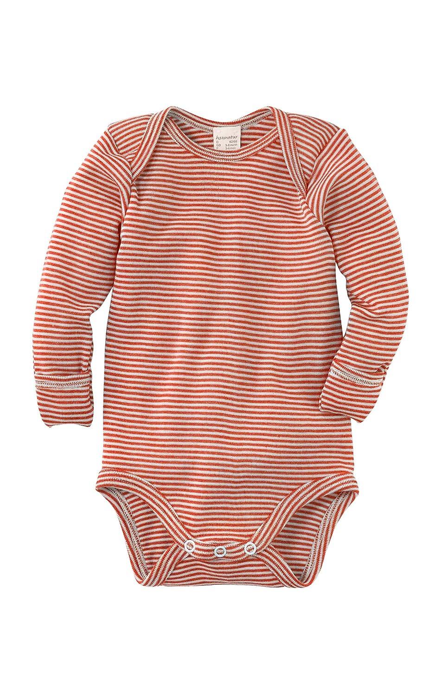 hessnatur Baby M/ädchen und Jungen Unisex Langarmbody aus Bio-Merinowolle und Seide