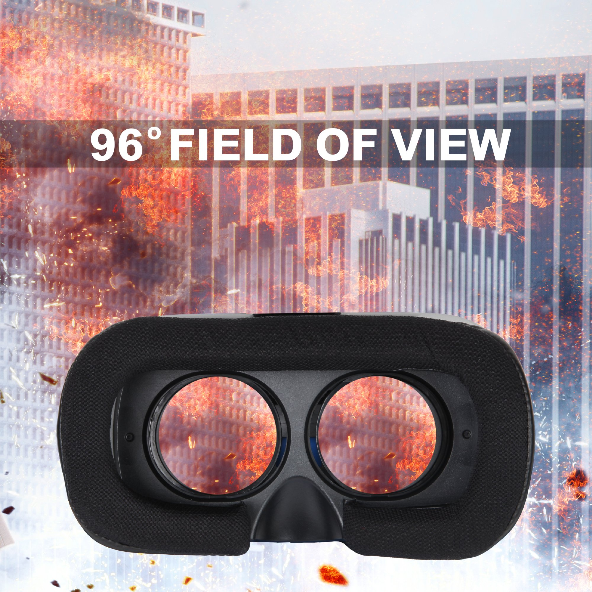 3D VR Headset Technology - Best Virtual Reality Experience For Games & Video - Watch Movies In Breathtaking HD With Your Smartphone Fit Glasses & Helmet - Goggles For Your iPhone & Android Smartphones by Rok Am (Image #6)