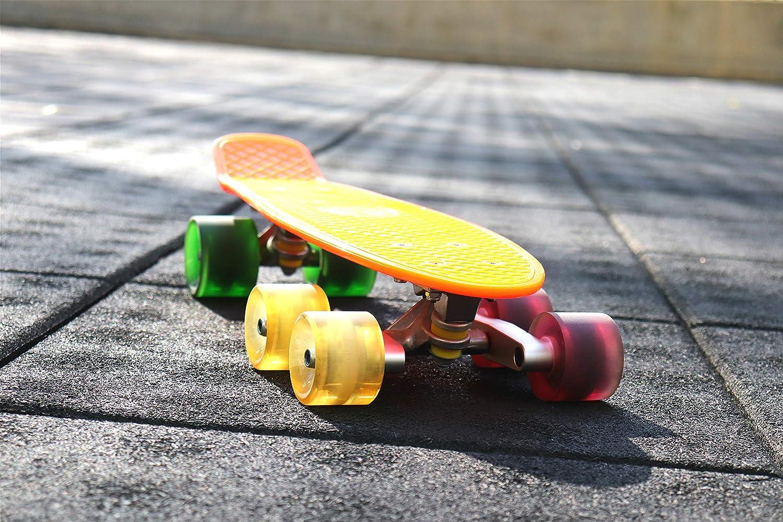 Pinalloy Set of 2 Red Tandem Axle Wheel Kit Set for Skateboard Cruiser Longboard Truck