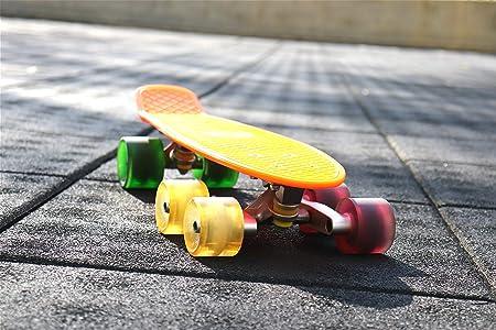 Blau Tandem Achse Rad Kit Set f/ür Skateboard Cruiser Longboard Penny Truck