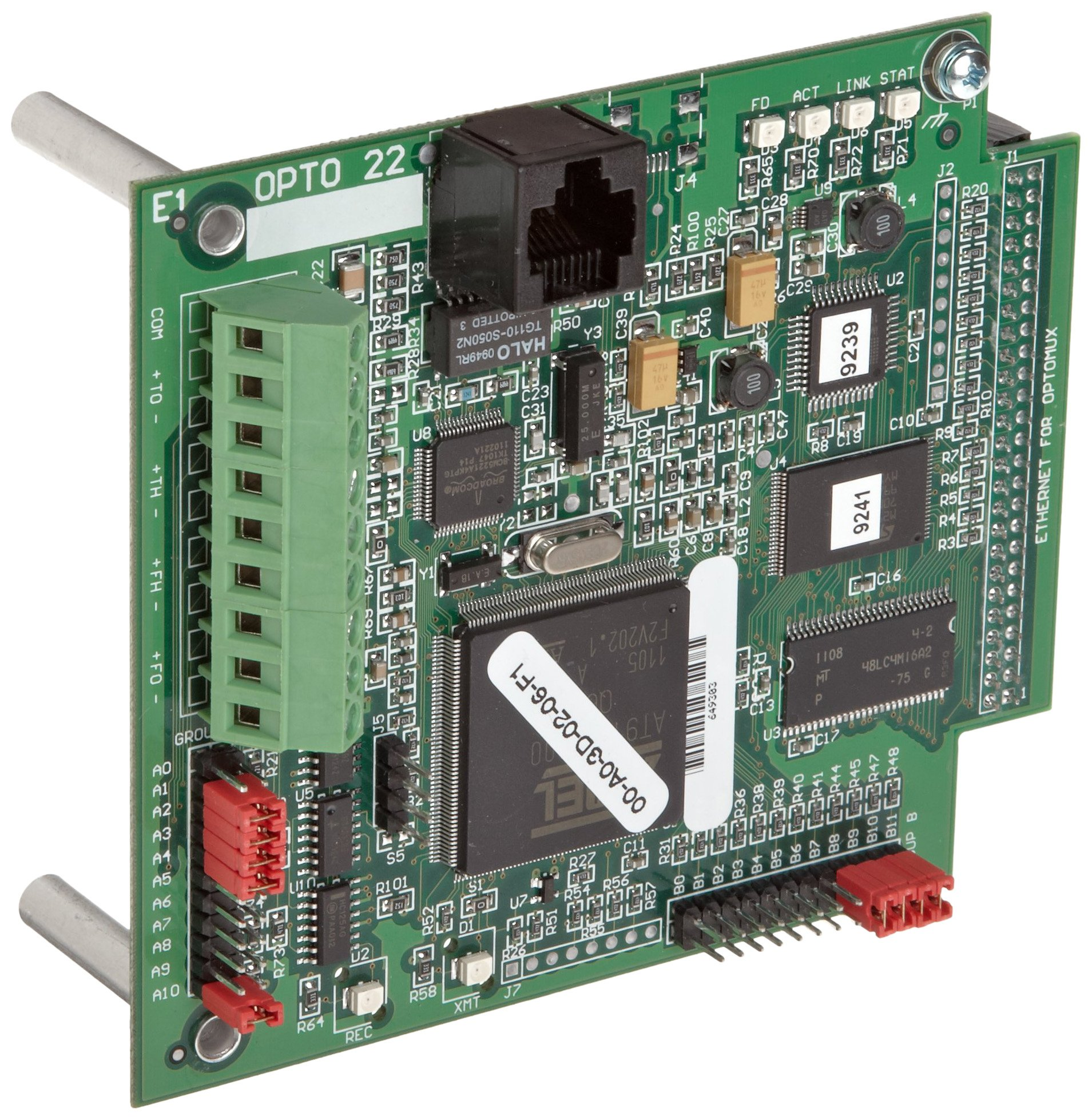 Opto 22 E1 16 Channel Digital Optomux Brain Board for Serial and Ethernet Networks, 5.0-5.2 VDC at 0.5 Amps by Opto 22