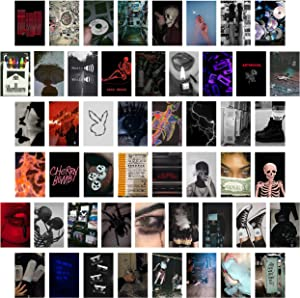 CY2SIDE 50PCS Grunge Aesthetic Picture for Wall Collage, 50 Set 4x6 inch, Cool Collage Print Kit, Cool Room Decor for Girl, Wall Art Prints for Room, Dorm Photo Display, VSCO Posters for Bedroom