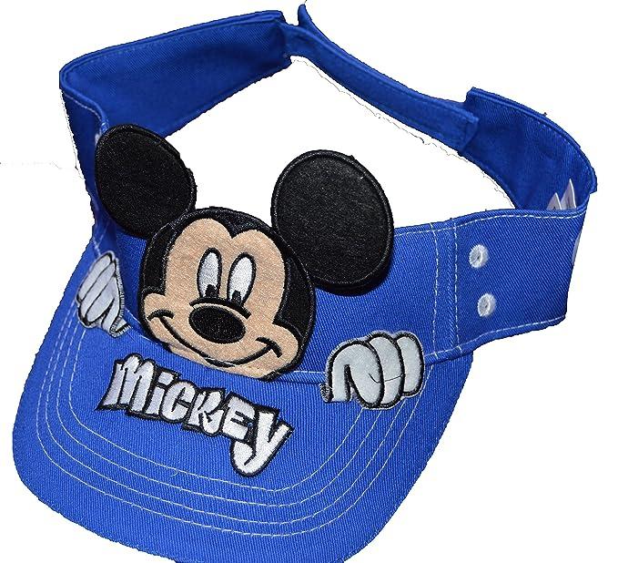 8cb55581f Disney Authentic Mickey Mouse Peeking Boys Sun Visor (Blue): Amazon ...