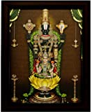 Indianara Tirupati Balaji Painting - Wood, 27x30.5x1cm, Multicolour