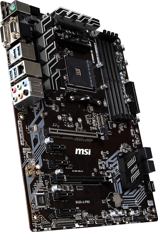 MSI B450-A Pro - Placa Base (AM4, AMD B450, 1 x PCI-E 3.0 x16 Slot ...