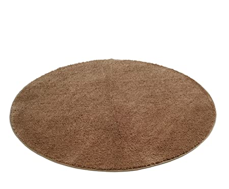 Gözze Mikrofaser Badteppich Rund 110 Cm Durchmesser Rio Sand 1025 73 110000
