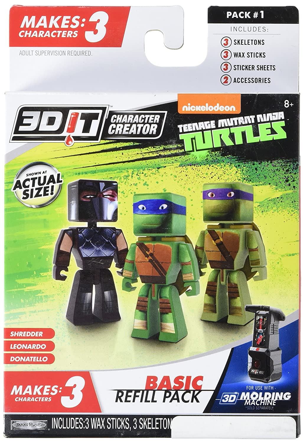 3dit Craft Kits Tortugas Ninja de Las niñas Refill: Amazon ...