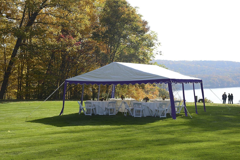 Amazon ShelterLogic Party Tent Blue White 20 X Ft Garden Outdoor
