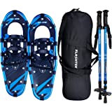 FLASHTEK 21/25/30 Inches Light Weight Snowshoes for Women Men Youth Kids, Aluminum Terrain Snow Shoes with Trekking…