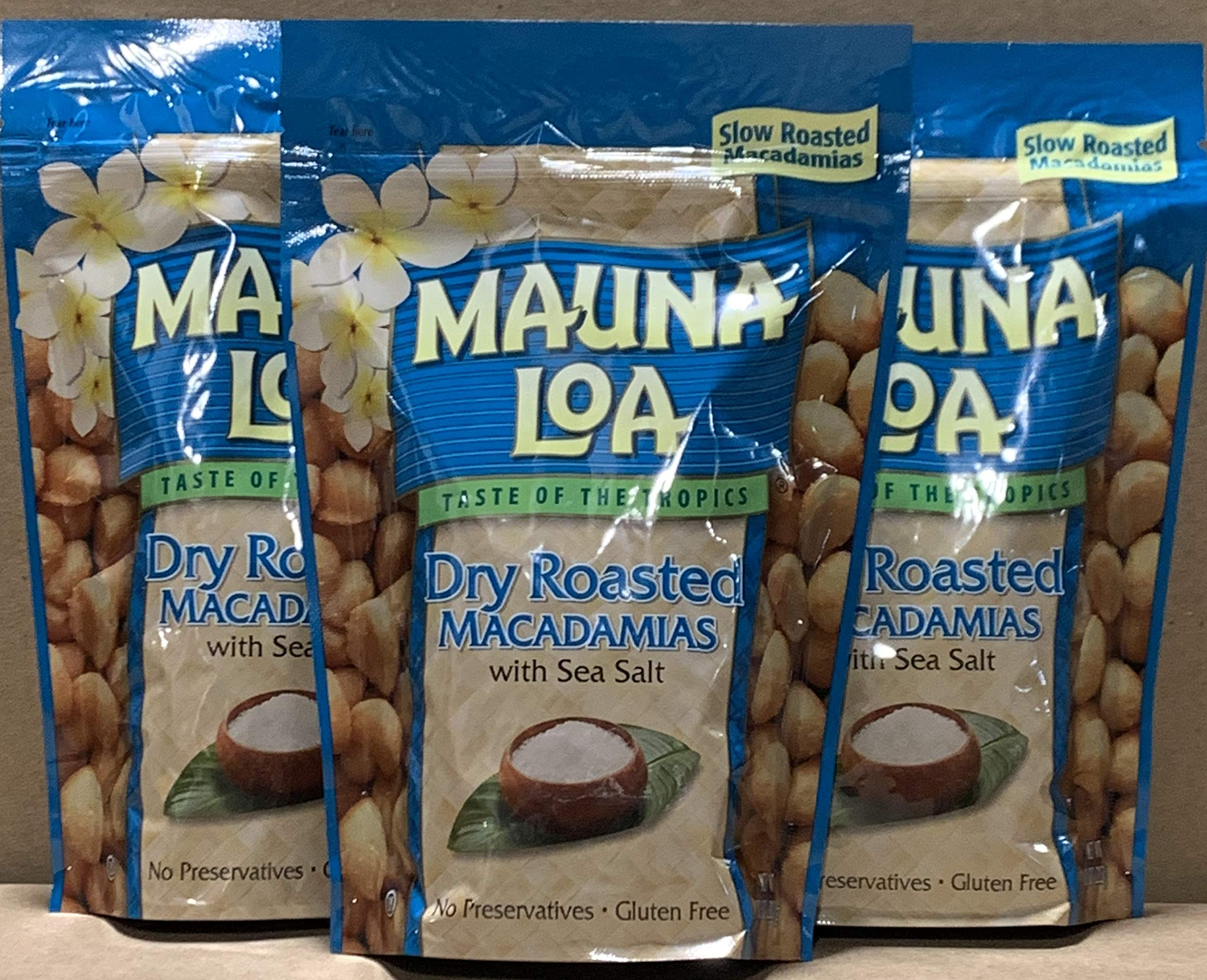 KC Commerce Gift Set Mauna Loa Macadamias, Dry Roasted with Sea Salt, 10-oz (Dry Roasted With Sea Salt 10oz Pack of 3)