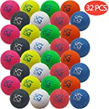 Macro Giant 1.7 Inch Foam Golf Ball, Set of 32, 8 Colors, Indoor Outdoor, Beginner, Training Practice
