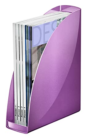 Carrefour Lot De 2 Porte Revues - Boites et ranges-archives (Violet, A4