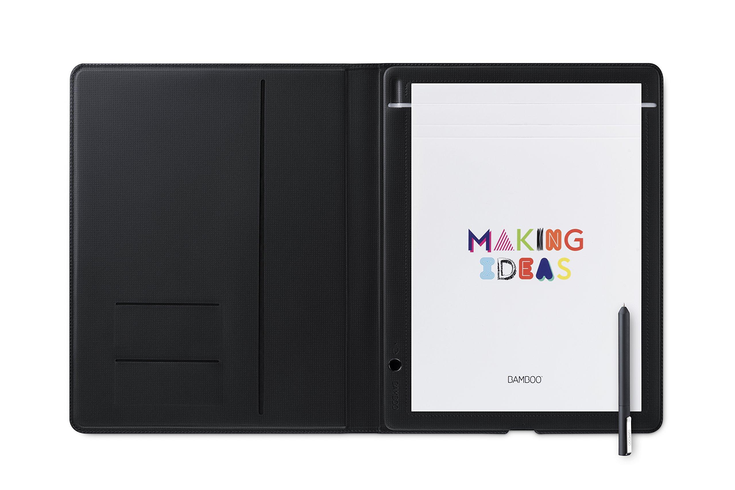 Wacom Bamboo Folio Smartpad Digital Notebook, Large (A4/ Letter Size), CDS810G
