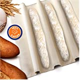 Orblue Baker's Couche and Proofing Cloth, 100% Cotton Fabric for Bread Dough Baking, Shaping Tool for Baguettes, Loaves, Ciabatta, 24 x 36 Inches