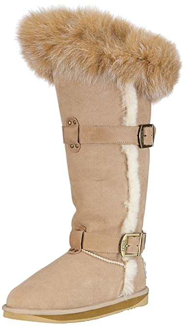 52fcd7a1bf Australia Luxe Collective Womens Tsar X-Tall Warm Lined Slipper Boots Long  Shaft Boots &