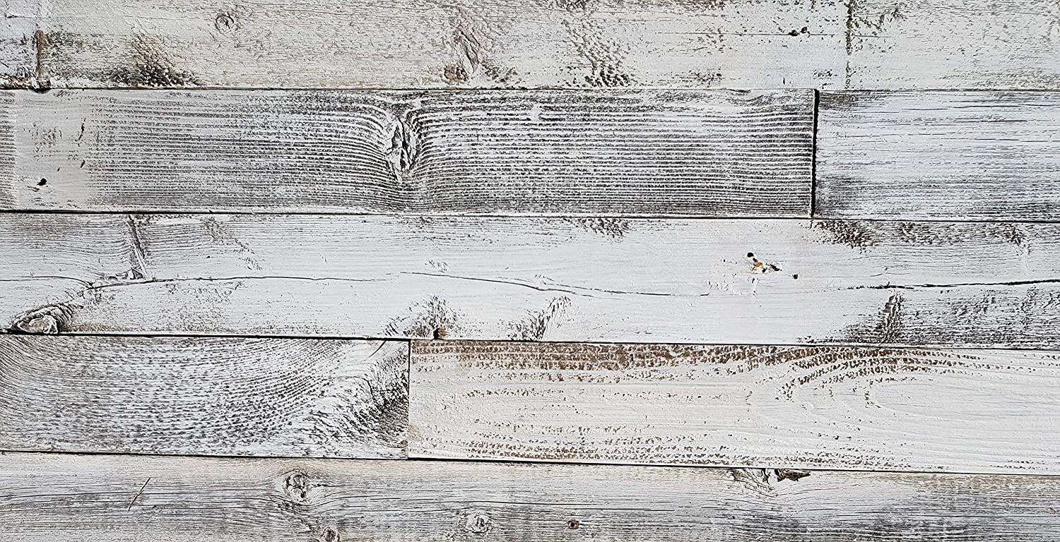 Easy Application Real Weathered Wood Planks for Walls 3 square feet Rustic Reclaimed barn Wood Paneling for Accent Walls