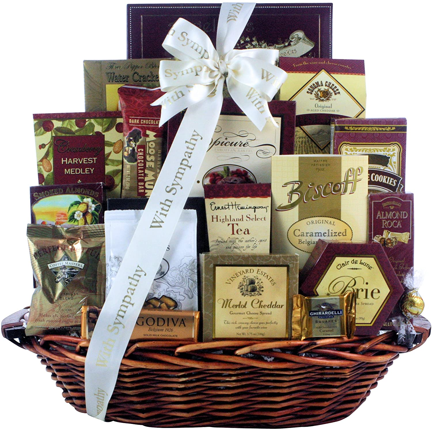Amazon.com  Great Arrivals Sympathy Gift Basket Our Sincere Condolences  Gourmet Snacks And Hors Doeuvres Gifts  Grocery u0026 Gourmet Food  sc 1 st  Amazon.com & Amazon.com : Great Arrivals Sympathy Gift Basket Our Sincere ...