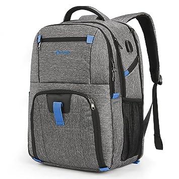 Coolbell Mochila para ordenador portátil bolsa para ordenador de 17.3 pulgadas con puerta USB, ...