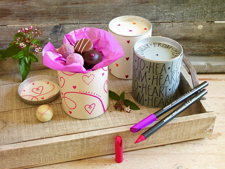 Edding 1200-69 color rosa Rotulador de punta fina