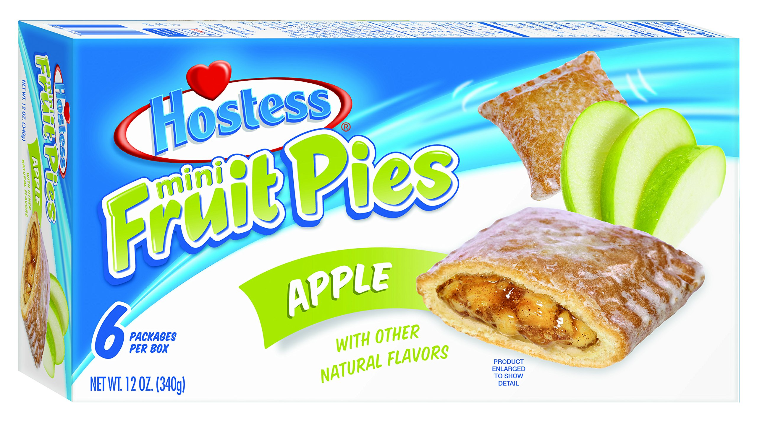 Hostess Mini Fruit Pies, Apple, 6 Count (Pack of 6) by Hostess